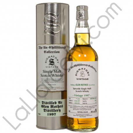 Signatory Vintage Glenrothes Unchillfiltered 1997
