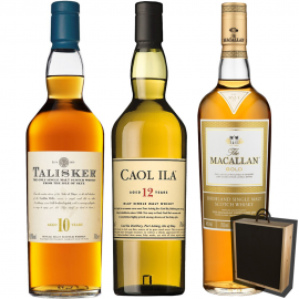 Presentear Whisky - Macallan Gold - Caol ila 12 - Talisker 10