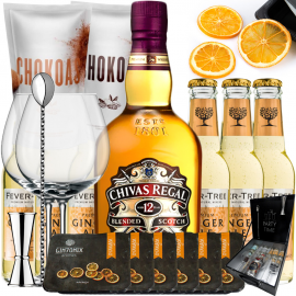Kit Whisky Ginger Ale - Gift Chivas 12 Years