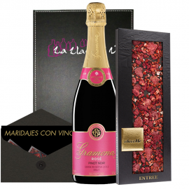 Cava Pinot Noir gift marinated with chocolate