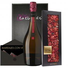 Gramona Argent pink gift paired with ChocoMe