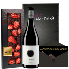 Vinho Orben e chocolate para presentear.