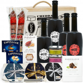 Gift Gourmet with cheese Manchego and Beers Artisans